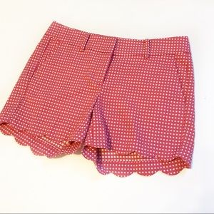 NWOT Ann Taylor Signature Pink/White Scallop Short